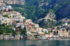 Positano, Costiera Amalfitana, Italië Stock Foto