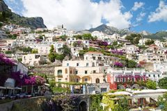 Positano, Costiera Amalfitana, Italy. POSITANO, ITALY - JUNE 25, 2013: Positano is a village and a comune on the Amalfi Coast (Costiera Amalfitana), in Campania stock photos