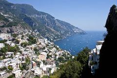 Positano da sopra - la costa di Amalfi Immagine Stock Libera da Diritti