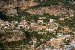 Positano - das magische schöne Dorf in Italien lizenzfreies stockbild