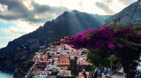 Positano en la costa de Amalfi foto de archivo