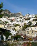Positano en la costa de Amalfi de Italia Imagen de archivo
