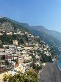 Positano en la costa de Amalfi de Italia Imágenes de archivo libres de regalías
