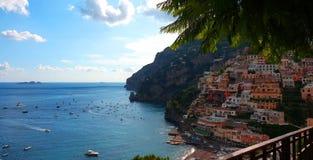 Positano en la costa de Amalfi de Italia fotografía de archivo libre de regalías