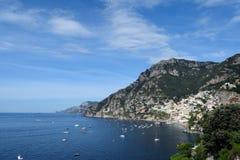 Positano från öst Royaltyfri Bild