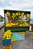Positano, ITALIE - 1er juin : Citrons de côte d'Amalfi chez Positano, Italie le 1er juin 2016 Image stock