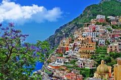 Positano Italien Royaltyfria Foton