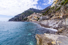 Positano Italien Fotografering för Bildbyråer