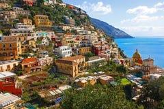 Positano Italien Arkivfoton