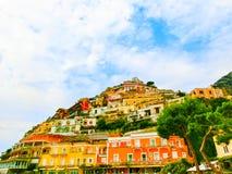 Positano, Italy along the stunning Amalfi Coast. Stock Photography