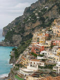 Positano, Italy. Evening colors of Positano on the Amalfi Coast in Italy Stock Image