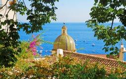 Positano, Italy. Particula mediterranean architecture of Positano, Italy Stock Images