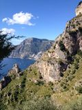 Positano, Italy, View from S.Domenico path. The Path of the Gods offers excellent views from all the parts but this one is simply fantastic Royalty Free Stock Images