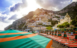 Positano Litorale di Amalfi, Italia Fotografia Stock