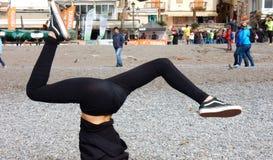 Positano - Marathonbovenkant - neer stock foto