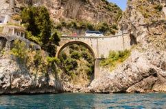 Positano most Zdjęcie Royalty Free