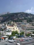 Positano, Nápoles, Italia de la playa fotografía de archivo