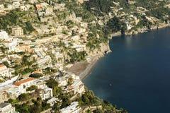 Positano na costa de Amalfi Imagem de Stock