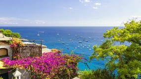 Positano na costa de Amalfi, Itália imagem de stock royalty free