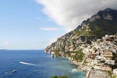 Positano och kust av Amalfi Royaltyfri Bild