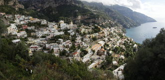 Positano panorama Stock Photos