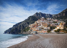 Positano. A picturesque little village on the Amalfi Coast, in Italy Stock Image