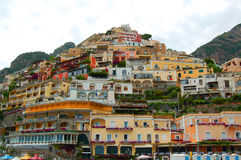 Positano pile-up Stock Image