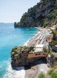 Positano plaża, Costiera Amalfitana, Włochy Obraz Stock