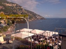 Positano restaurant Royalty Free Stock Photos