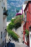 Positano scalinatella Summer, Naples, Italy. Photo of Positano, city near Sorrento and Naples stock photo