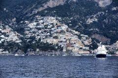 Positano. A scenic view from the sea of Positano on Amalfi Coast Stock Photography