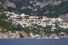 Positano from the sea Stock Photo