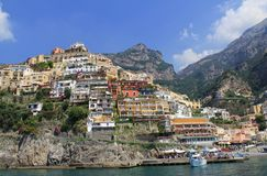 Positano from the Sea Royalty Free Stock Photo