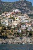 Positano seen from the sea on Amalfi Coast in the region Campania, Royalty Free Stock Photography