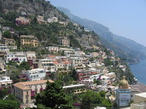 Positano sulla linea della costa di Amalfi Fotografie Stock