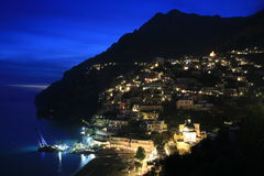 Positano at sunset Royalty Free Stock Photos