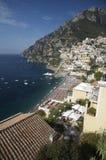 Positano sur la côte d'Amalfi, Italie images libres de droits
