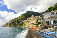 Positano sur la côte d'Amalfi, Italie Photos stock