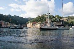 Positano. Travel on the yacht, the yacht in Pozitano, rest, sea, travel Royalty Free Stock Photos