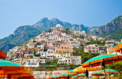 Positano view Stock Photos