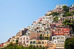 Positano view. Positano is a village and comune on the Amalfi Coast (Costiera Amalfitana), in Campania, Italy Royalty Free Stock Image