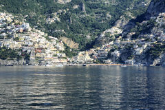 Positano. A view from the sea of Positano on the Amalfi Coast Stock Images