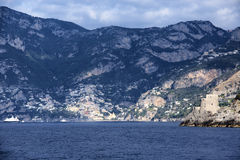 Positano. A view from the sea of the Positano Royalty Free Stock Photography