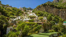 Positano Village on Amalfi Coast in Italy Stock Image