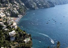 Positano, a village and comune on the Amalfi Coast, in Campania, Italy. Pictured is Positano, a village and comune on the Amalfi Coast also called Costiera Royalty Free Stock Images
