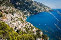 Positano w Amalfi wybrzeżu Włochy Obraz Royalty Free