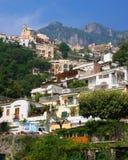 Positanohelling, Italië stock afbeelding
