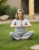 Positie 4 van de yoga royalty-vrije stock afbeelding