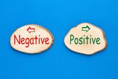 Positief en negatief royalty-vrije stock foto