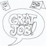 Positief Job Reinforcement Messages Royalty-vrije Stock Afbeeldingen